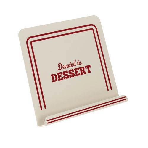 Cream Devoted to Dessert Metal Cookbook Stand
