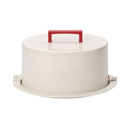 Serveware Cream Metal Cake Carrier