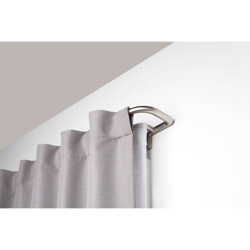 Twilight 48-88 In. Matte Nickel Double Curtain Rod