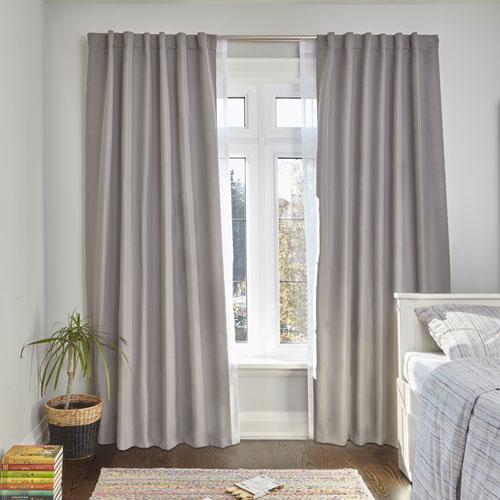 Umbra Leyton Dove Gray 84 x 54 In. Room Darkening Curtain Panel
