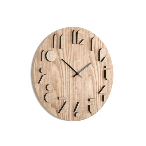 Shadow Natural 16.25-Inch Wall Clock