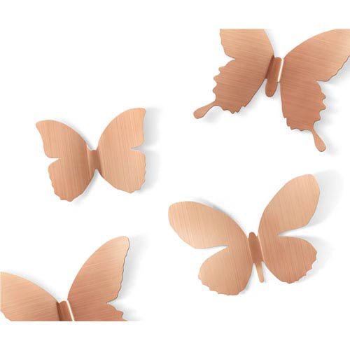 Umbra Mariposa Metal Wall Décor, Set of Nine