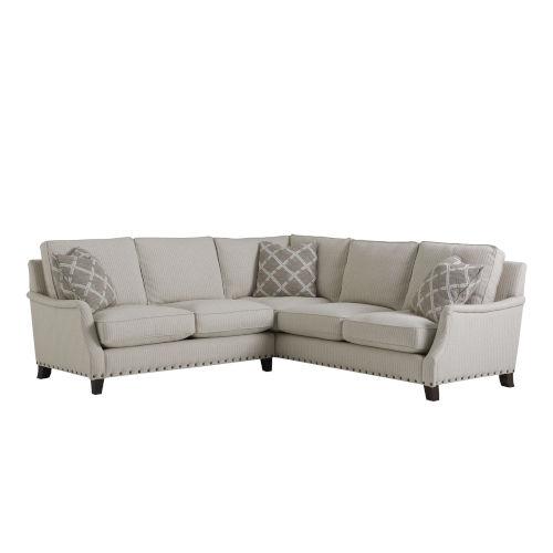 Tucker Beige Left Arm Corner Sectional Sofa