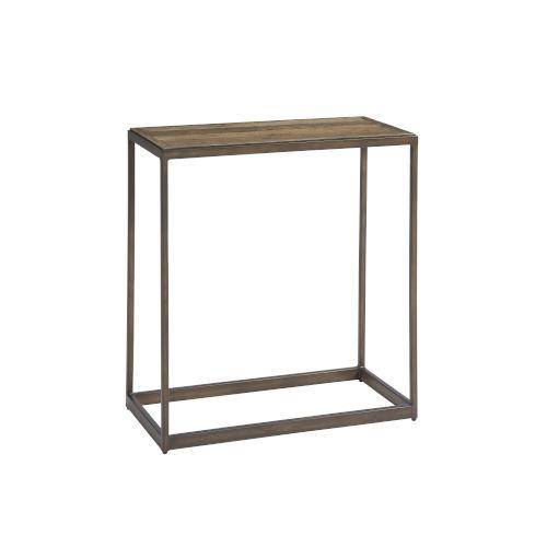 Langston Rustic Elm Chair Side Table