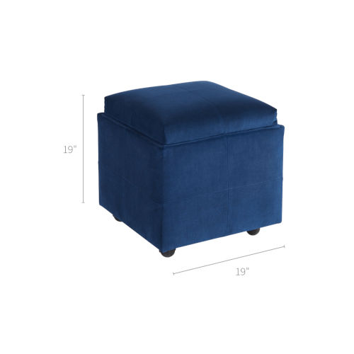 Groovy Jasper Blue 19 Inch Storage Ottoman Ocoug Best Dining Table And Chair Ideas Images Ocougorg