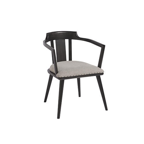 Dalton Black and Grey Barrel Back Side Chair, Set of 2