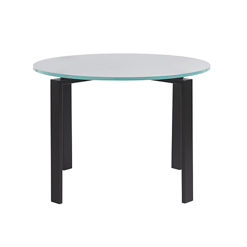 Marshall Black Dining Table with Glass Top