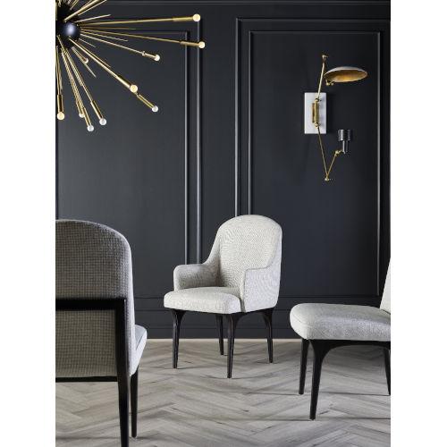 Nina Magon Bronze Metal Dining Arm Chair