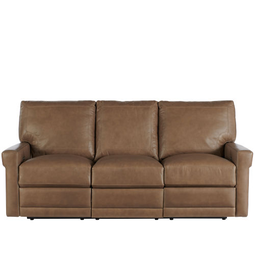 Olsen Brown Moore Giles Leather Motion Sofa