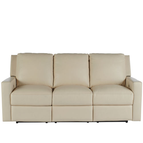 Carter Beige Moore Giles Leather Motion Sofa