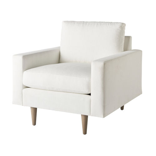 Miranda Kerr Brentwood White Lacquer Arm Chair