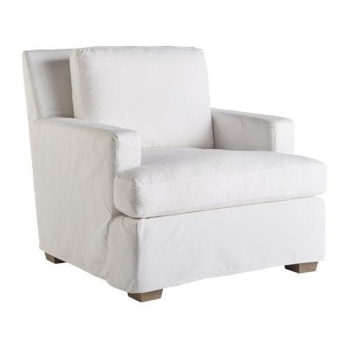 Miranda Kerr Malibu White Lacquer Slipcover Chair