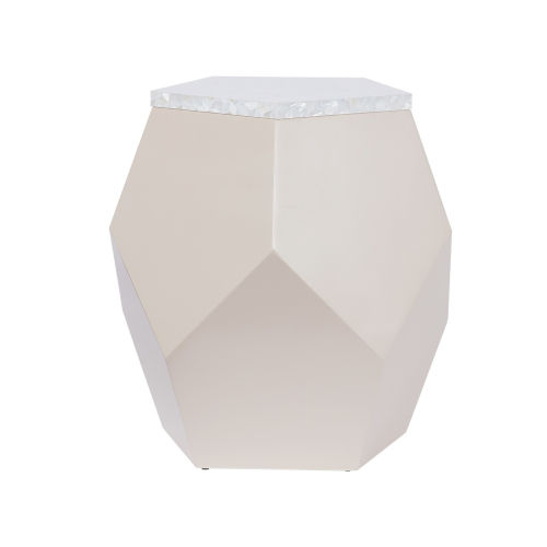 Miranda Kerr Geo Taupe Lacquer End Table