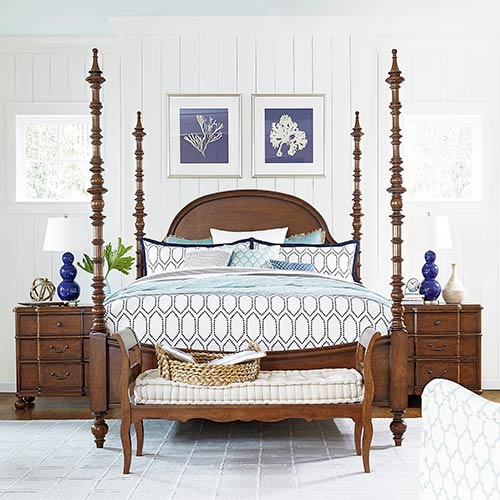 The Dogwood Brown Complete Queen Bed