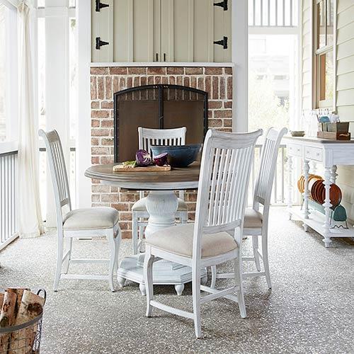 Paula Deen Dogwood White And Grey Breakfast Table