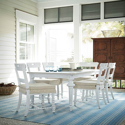 Paula Deen Dogwood White And Grey Kitchen Table