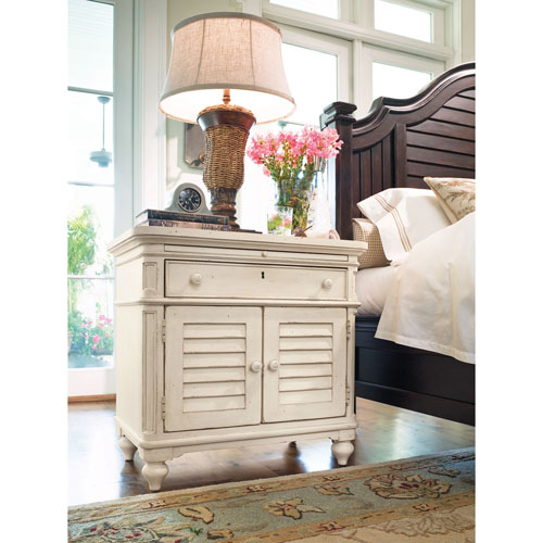 Linen Door Nightstand