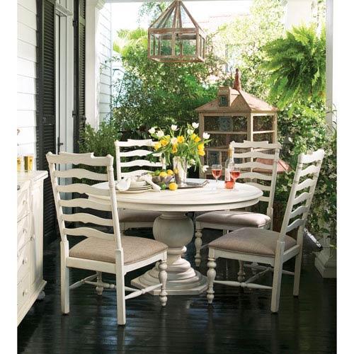 Linen Round Pedestal Table