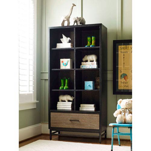 Smartstuff Furniture My Room Brown and Black Bookcase