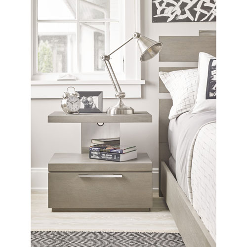 Axis Symmetry One Drawer Nightstand