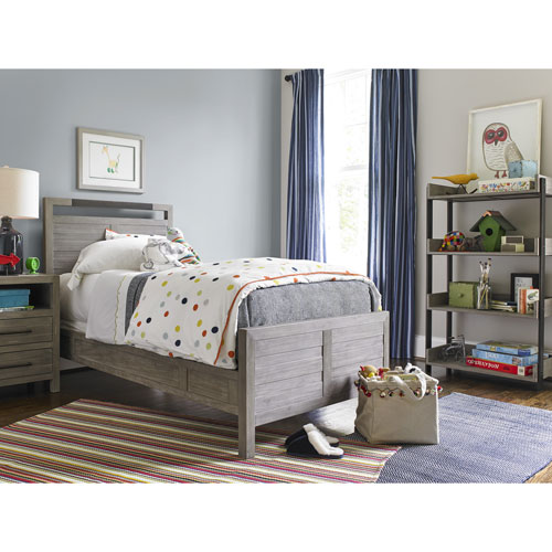 Smartstuff Furniture Scrimmage Greystone Panel Twin Bed Complete