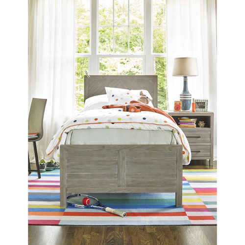 Smartstuff Furniture Scrimmage Greystone Reading Twin Bed Complete