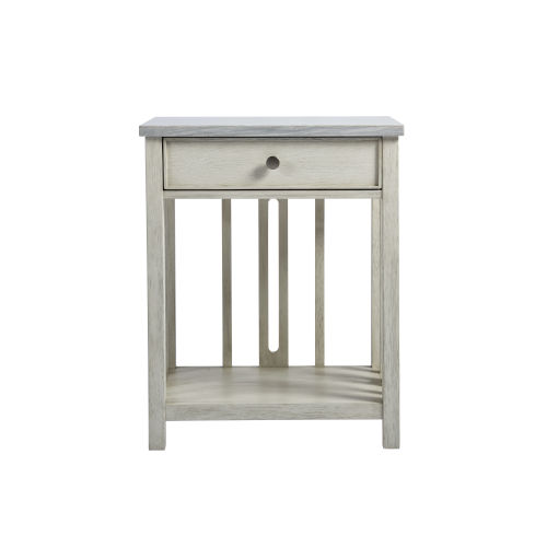 Escape Sandbar Bedside Table with Stone Top