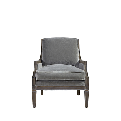 Curated Gray Crosspoint Accent Chair