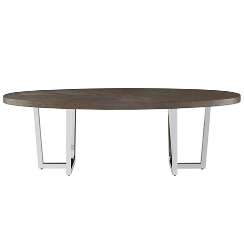 Universal Furniture Curated Brownstone Dorchester Oval Cocktail Table