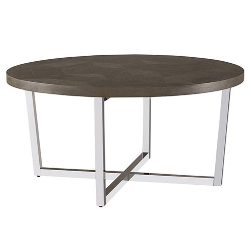 Universal Furniture Curated Brownstone Dorchester Round Cocktail Table