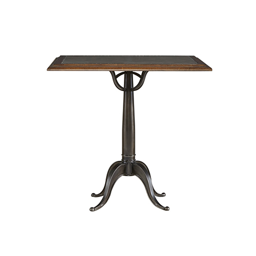 Universal Furniture Curated Gray Wood And Metal Bistro Table For Two