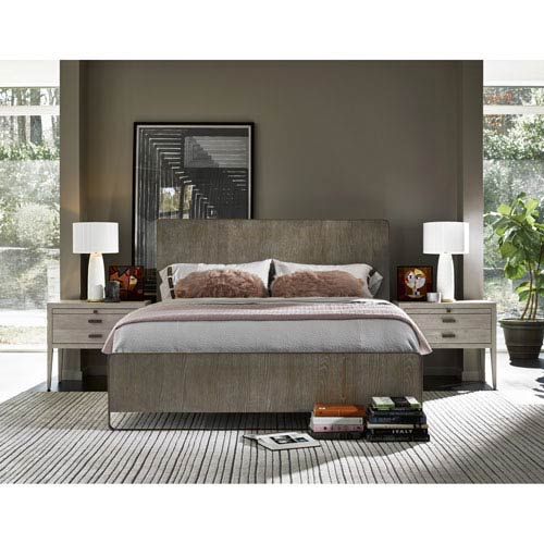 Universal Furniture Keaton Charcoal Complete Queen Bed
