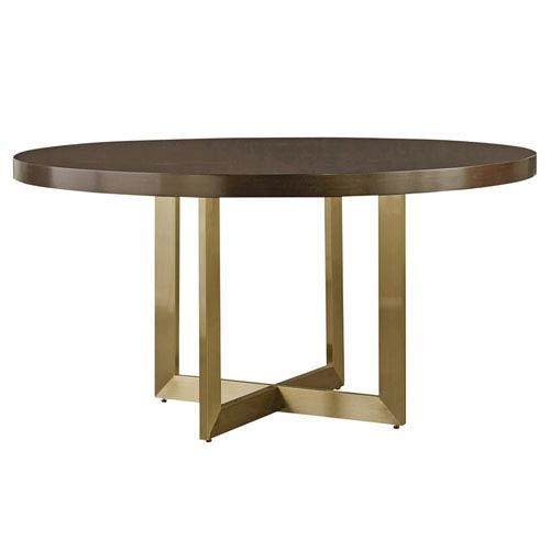 Modern Mahogany Round Dining Table