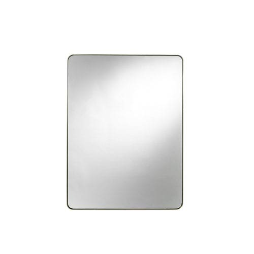 Brushed Brass Accent Mirror