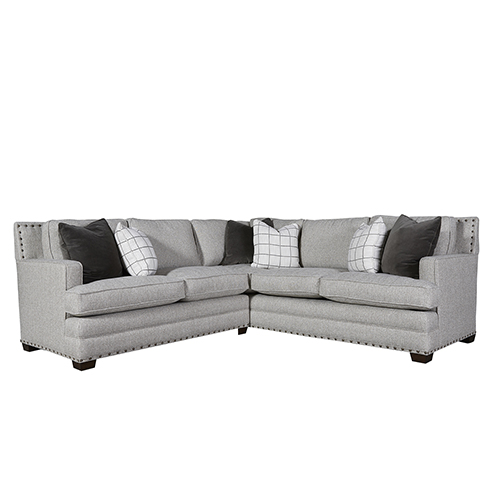 Universal Furniture Curated Gray Riley Sectional