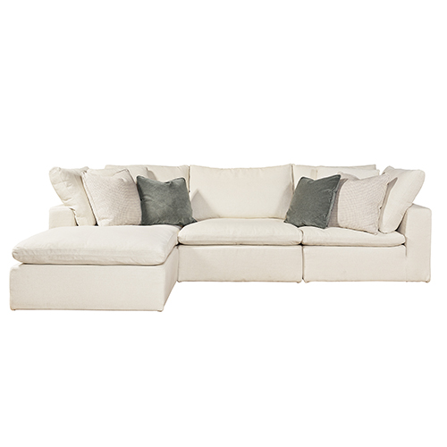 Curated White Palmer 4 Piece Sectional