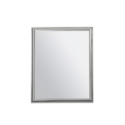 Universal Furniture Zephyr Polished Stainless Mirror
