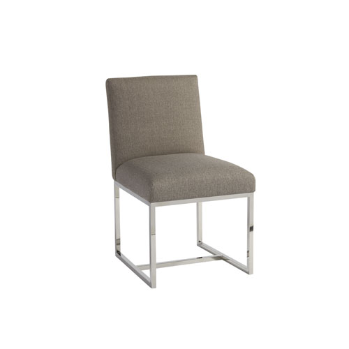 Universal Furniture Zephyr Polished Stainless Cooper Side Chair