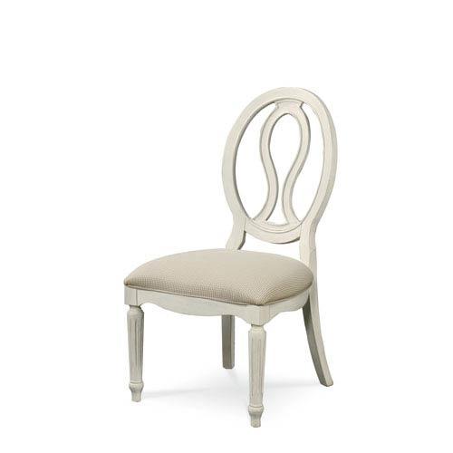 Summer Hill White Pierced Back Side Chair