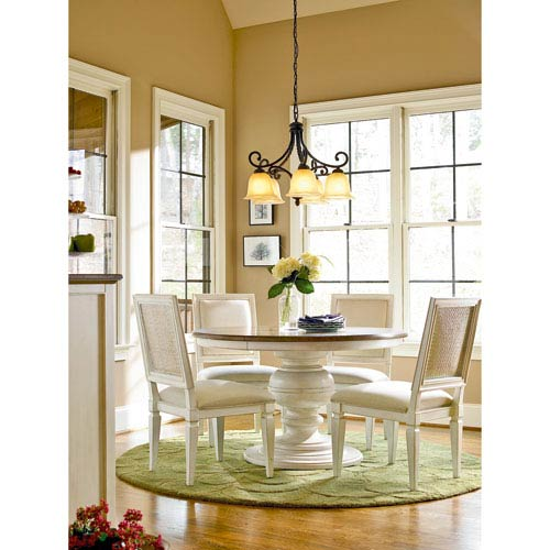 Universal Furniture Summer Hill White Round Dining Table