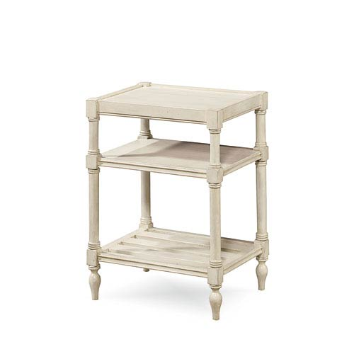 Universal Furniture Summer Hill White Chair Side Table