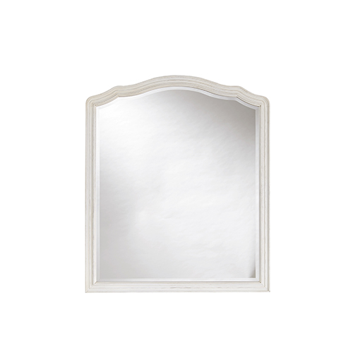 Amity White Wood Mirror