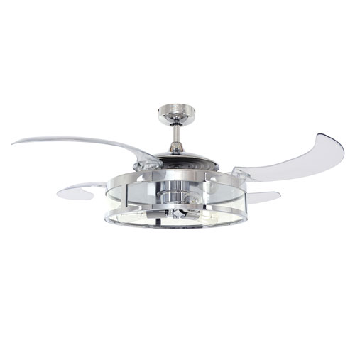 Acrylic ceiling fan bellacor beacon lighting fanaway classic polished nickel 48 inch three light ac ceiling fan aloadofball Image collections