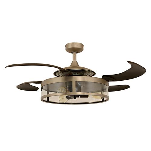 Matt Nickel and Espresso 48-Inch Three-Light Ceiling Fan