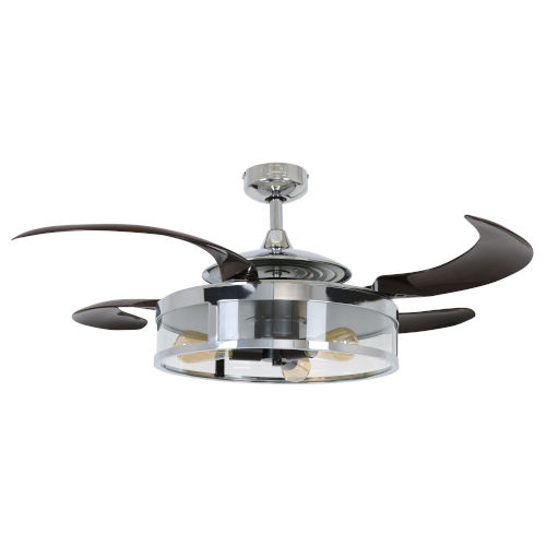 Fanaway Classic Chrome and Espresso 48-Inch LED Ceiling Fan