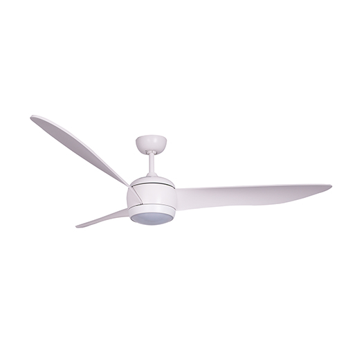 Lucci Air Matt White LED Ceiling Fan with White Wash Blades