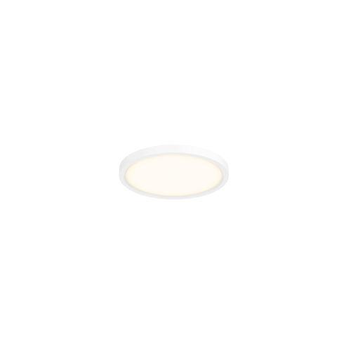White Five-Inch LED Flush Mount