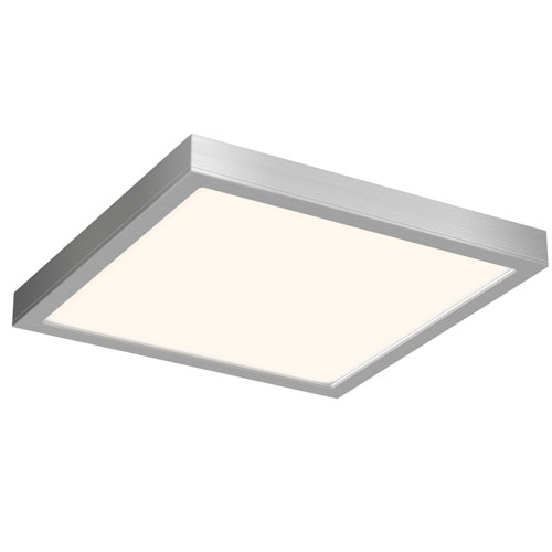 Satin Nickel LED 1600 Lumen Flush Mount