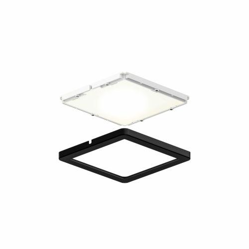 Black Ultra Slim Square Under Cabinet Puck Lights, Pack of 3