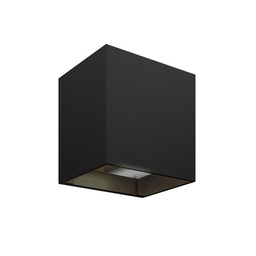 Black and Gold LED 300 Lumen Outdoor Wall Sconce